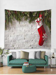 Christmas Sock Print Tapestry Wall Hanging Decoration -