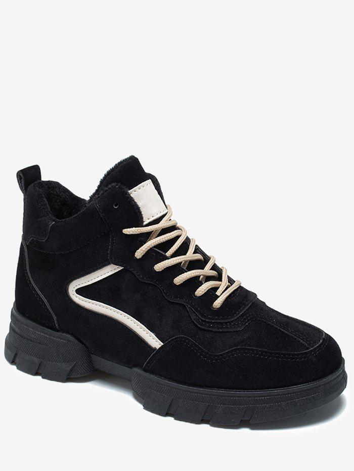 Shops Contrast Suede Chunky Running Sneakers