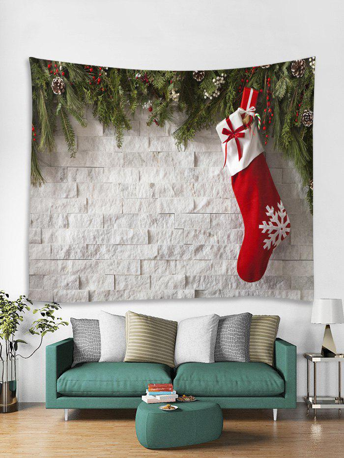 Trendy Christmas Sock Print Tapestry Wall Hanging Decoration