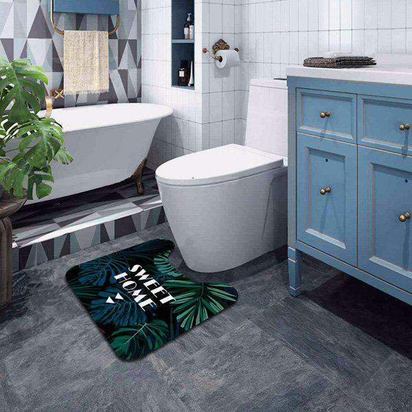 Chic U-shaped Plant Series Bathroom Toilet Mat