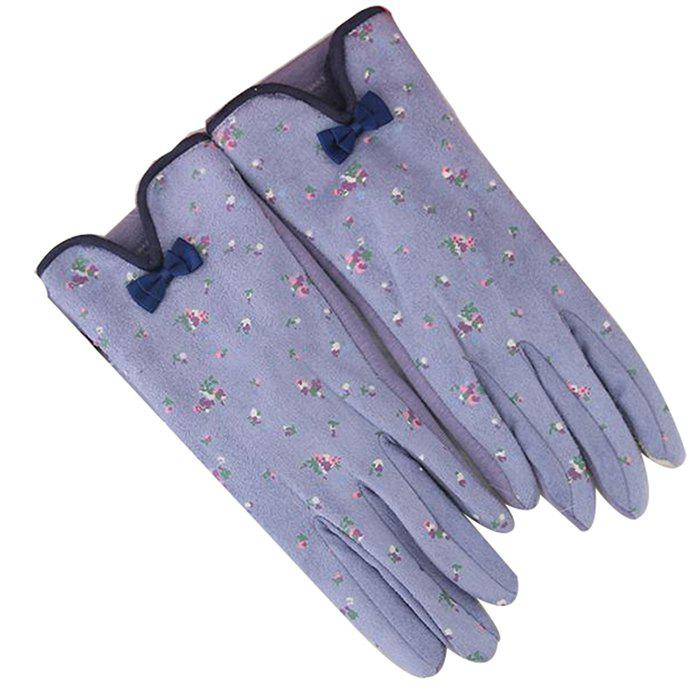Chic Women's Gloves Bow Tie Small Floral