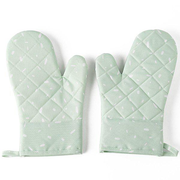 Outfit Microwave Oven Gloves Thickened Insulation Kitchen High Temperature Baking Special Home Fabric
