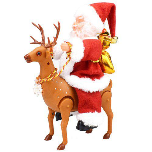 Store Novelty Fun With A Concert Walking Around The Deer Santa Electric Toy