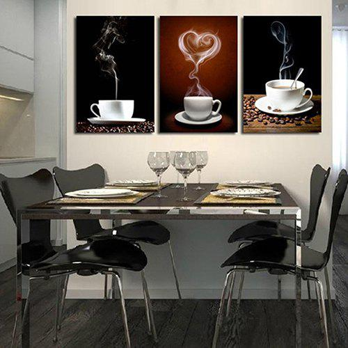 Buy Triple Color Drawing Love Coffee Coffee Love Coffee Oil Painting