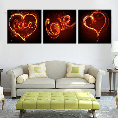 Trendy Triple Painting Core Dream Love Oil Painting