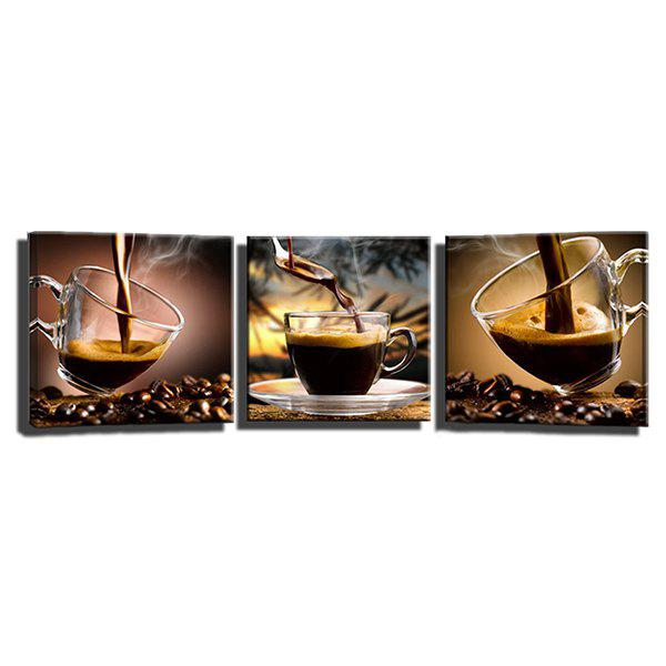 Outfits Triple Painting Of The Core Of The Delicious Coffee Oil Painting