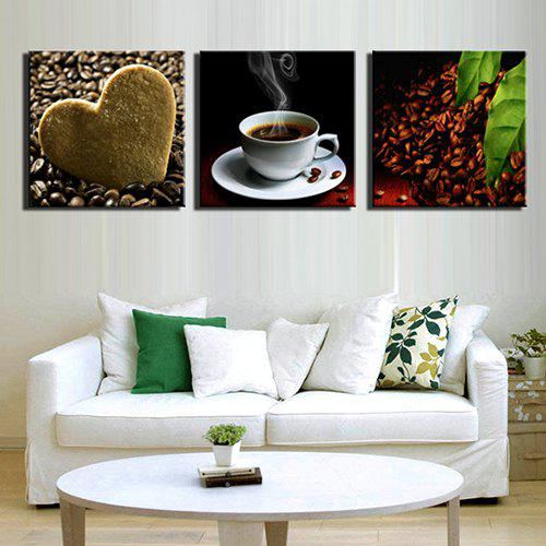 Outfits Triple Painting Core Love Coffee Oil Painting