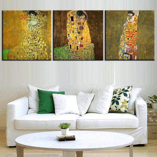 Latest Triple Painting Core Abstract Painting Woman Oil Painting
