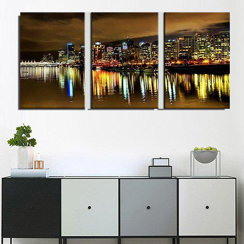 Buy Triple Painting Core City Night Water Reflection Oil Painting 3pcs