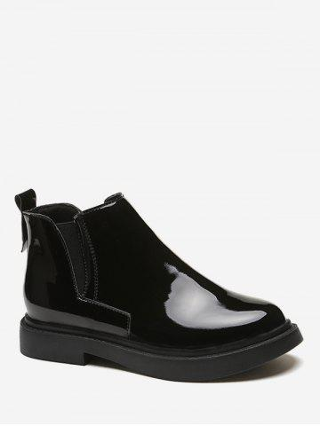 Patent Leather Chelsea Ankle Boots