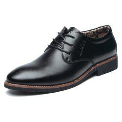 Winter Warm Cotton Men Leather Shoes Pointed -