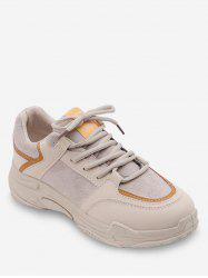 Contrast Lace Up Casual Sneakers -