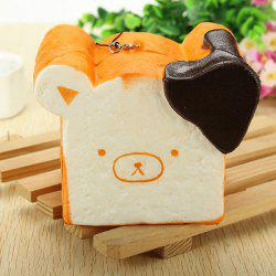 Squishy Toy 8 Seconds Slow Rising Super Soft Cute Fragrance Reality Touch Bear Toast Bread Decor -