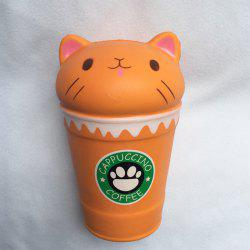 Squishy Slow Rebound Cat Head Coffee Cup Doll -