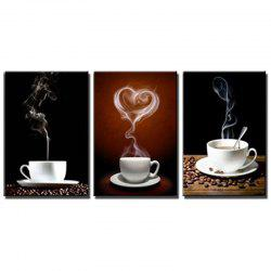 Triple Color Drawing Love Coffee Coffee Love Coffee Oil Painting -