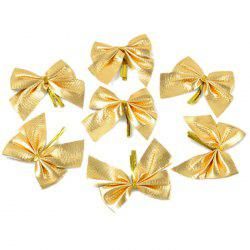 12PCS Pretty Bow Ornament Christmas Tree New Year Decoration Festival Party Home Bowknots Baubles -