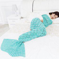 Mermaid Blanket Fish Scale Knitted Mermaid Tail Blanket for Children -