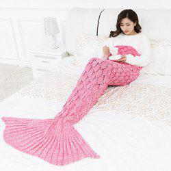 Fish Scale Knitted Mermaid Tail Children Blanket -