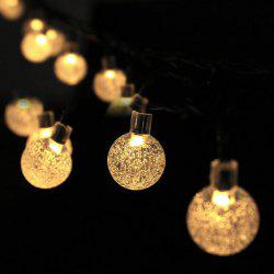 Christmas Decorations Solar Snowflake Bubble Ball Light String 30LED Holiday Outdoor Decorative Lights -