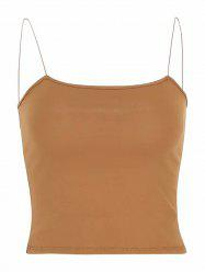 Women's Fine Rubber Band Slim Short Tank Top Bottoming Shirt -