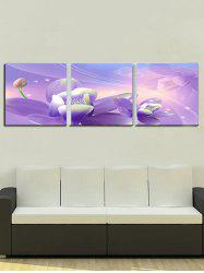 Unframed Flowers Print Split Canvas Paintings -