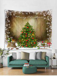 Merry Christmas Tree Gift Printed Tapestry Art Decoration -