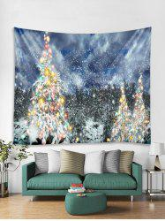 Christmas Snow Forest Printed Tapestry Art Decoration -