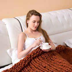 Nordic Hand-woven Thick Wool Sofa Blanket -