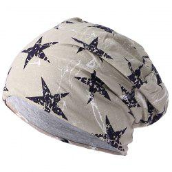 Men's Lightning Five-pointed Star Double Thin Warm Cap -