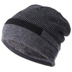 Wool  Plus Velvet Thickening Knit Hat -