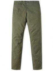 Men's Business Casual Simple Pants with Small Feet -