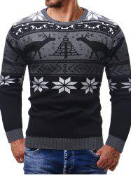 Thicken Christmas Sweater Men Long Sleeve Cardigan -