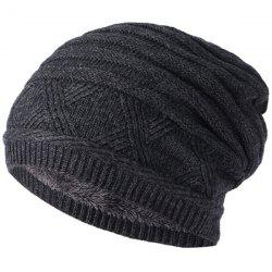 Winter Outdoor Plus Velvet Hat Cap Knit Hat -