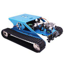 Yahboom Track Robot Kit Stem Education Programmable Smart Tank Mobile Platform Chassis Robot Kit For Arduino Electronic Project Learning With C Language & Graphical Programming Super Climbing -
