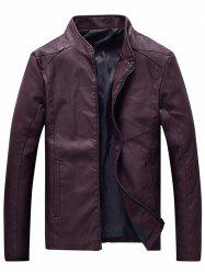 Plus Velvet PU Leather Jacket Men Large Size Motorcycle Leather -