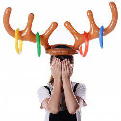 Christmas Inflatable Antler Hat Holiday Party Game Supplies Toys -