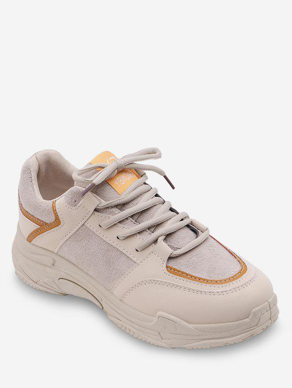Store Contrast Lace Up Casual Sneakers