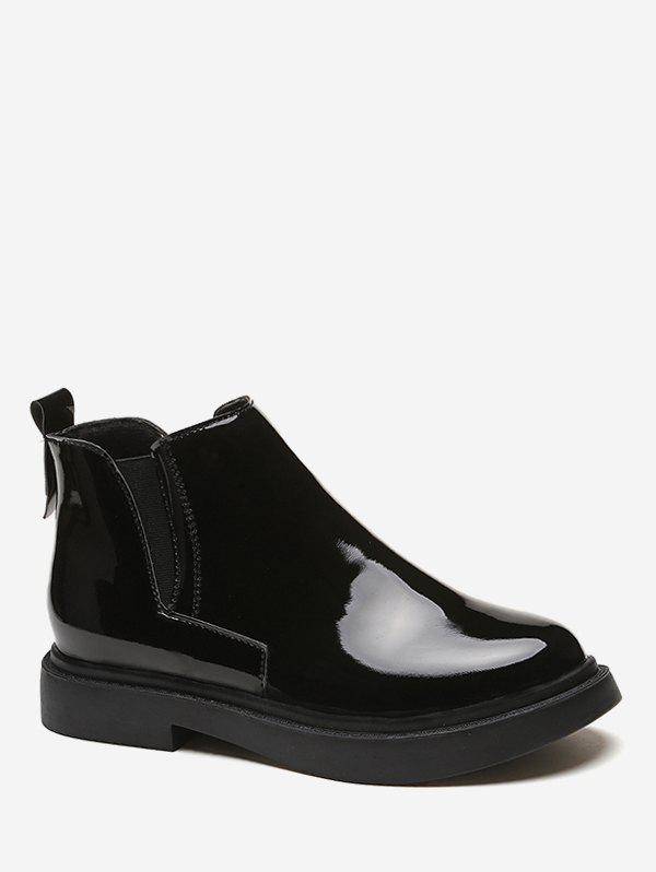 Sale Patent Leather Chelsea Ankle Boots