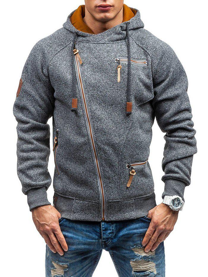 Outfits Men Hooded Sweater Personality Side Zipper