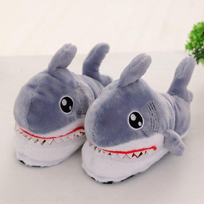 Unique H21 Women's Slippers Cute Shark Head Cotton