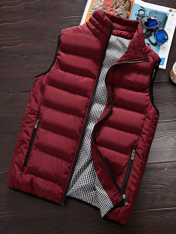 Chic Men's Winter Warm Cotton Clothes Vest Korean Big Size Vest Thickening