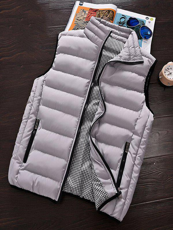 Hot Men's Winter Warm Cotton Clothes Vest Korean Big Size Vest Thickening