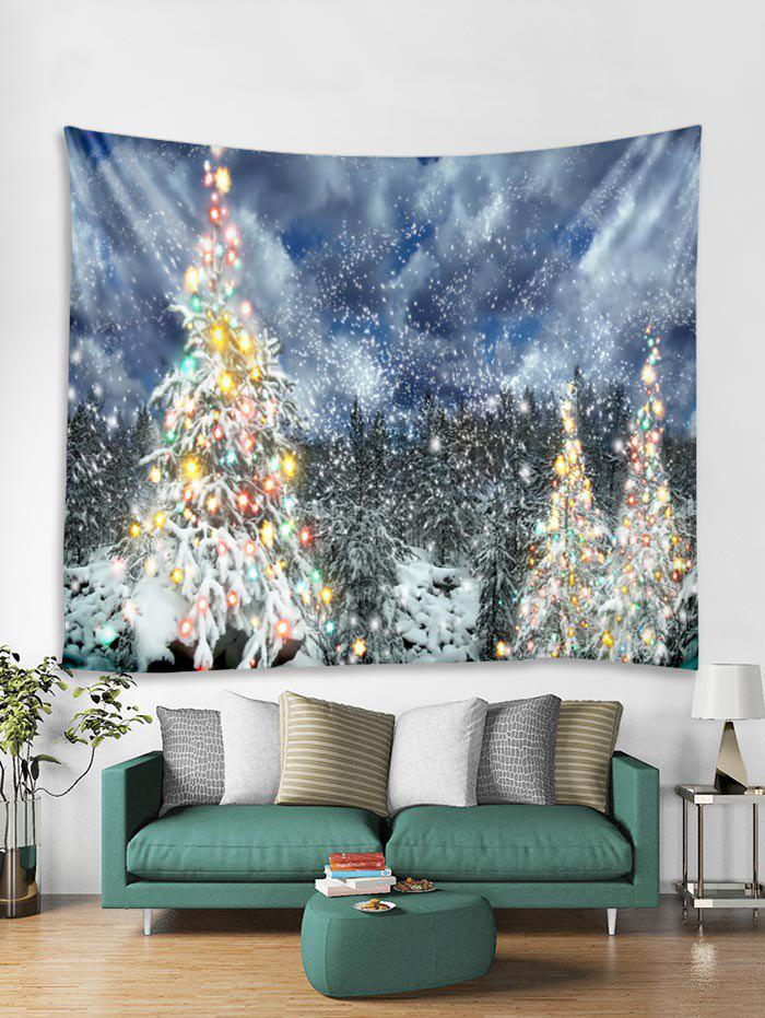 Affordable Christmas Snow Forest Printed Tapestry Art Decoration