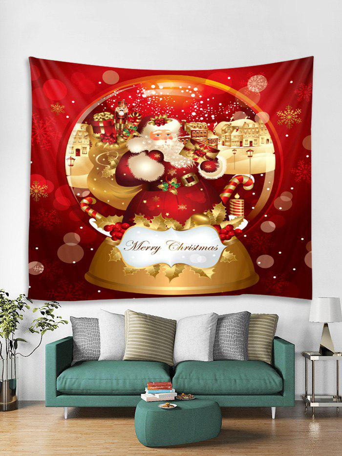 Unique Merry Christmas Santa Claus Printed Tapestry Art Decoration