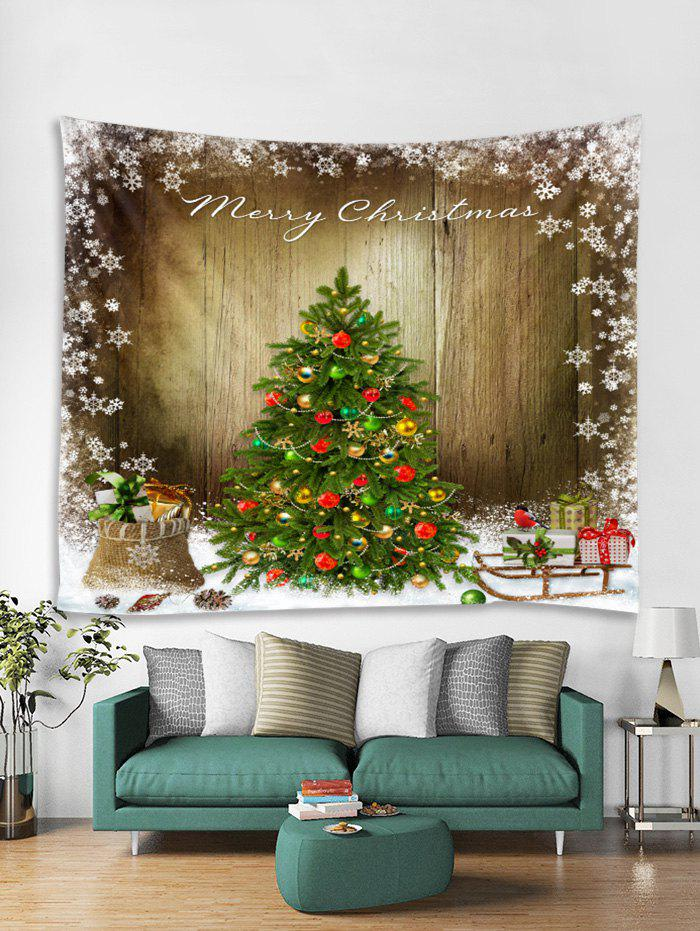Buy Merry Christmas Tree Gift Printed Tapestry Art Decoration