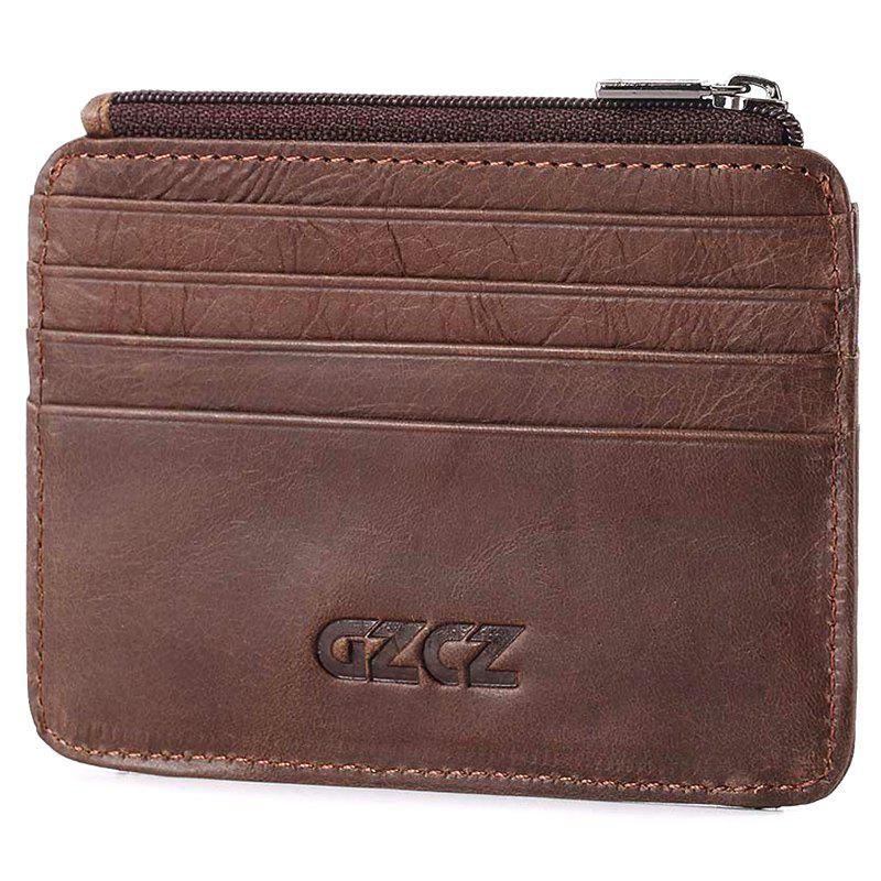 GZCZ GZ0014 Leisure Card Holder Wallet for Women, Coffee