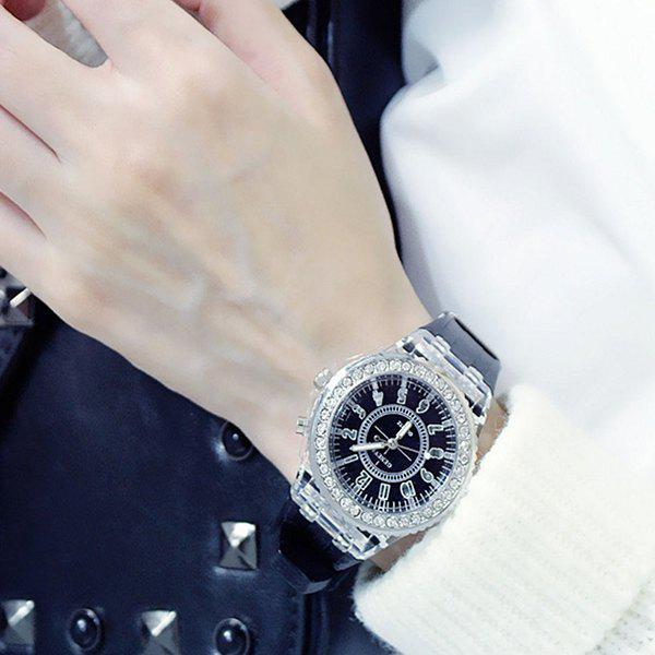 Affordable 3152636 Luminous Personality Rhinestone LED Fashion Trend Men Women Couple Quartz Watch