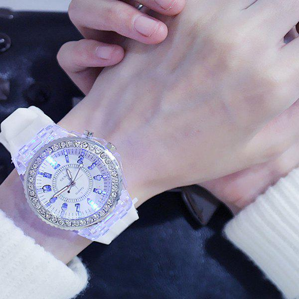 Sale 3152636 Luminous Personality Rhinestone LED Fashion Trend Men Women Couple Quartz Watch