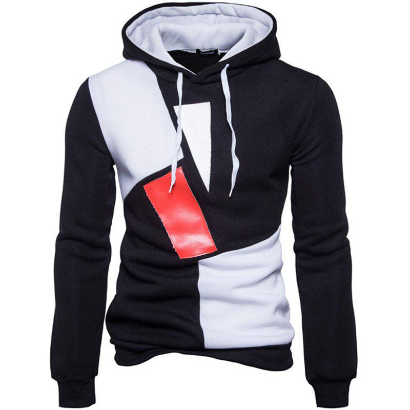 Affordable New Man Fashion Patchwork Colors with Hooded Spring Autumn Winter Casual Hoodie