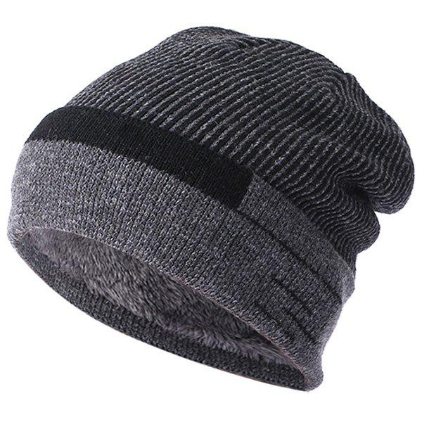 Unique Wool  Plus Velvet Thickening Knit Hat